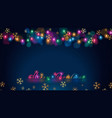 fairy lights vector image