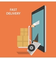 Fast Goods Delivery Isometric vector image