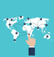 global business communication connection network vector image vector image