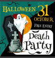 halloween party invitation poster vector image vector image