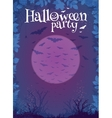Halloween party purple poster template vector image vector image