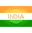 Indian independence day background concept vector image
