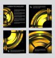 industrial engineering booklet template vector image
