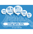 infographich city vector image