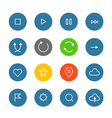 Interface color pictograms collection vector image