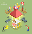 isometric flat concept online shop vector image