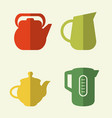 kitchen utensils and cookware flat icons set vector image vector image