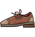 leather shoe object cartoon clip art vector image vector image