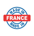 made in france emblem flat vector image vector image