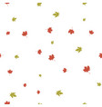 maple leaves pattern seamless vector image vector image