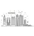 minimal kansas linear city skyline with vector image vector image