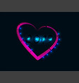 neon banner for 2019 new year with heart vector image vector image