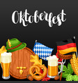 oktoberfest welcome to beer festival invitation vector image vector image