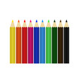 pencil colour set design vector image vector image