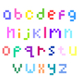pixel lower case alphabet vector image vector image