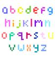 pixel lower case alphabet vector image