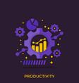 productivity productive capacity analytics vector image vector image