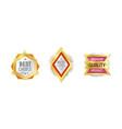 quality label badge premium certificate design vector image