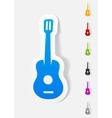 realistic design element guitar vector image