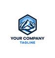 salt in mountain modern logo template vector image vector image