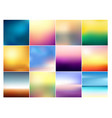 set of 12 square blurred vector image vector image