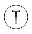 shaver safety razor icon editable thin line vector image vector image
