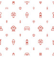 soft icons pattern seamless white background vector image vector image