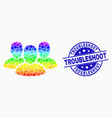 spectral pixelated user group icon and vector image vector image