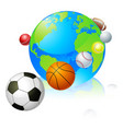 sports globe world concept vector image