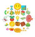 subsidize icons set cartoon style vector image