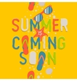 Summer coming soon creative graphic background vector image vector image
