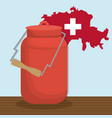 switzerland country design vector image vector image