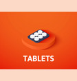 tablets isometric icon isolated on color vector image vector image