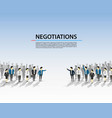 talks of a crowd of people vector image vector image