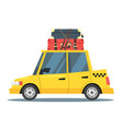 taxi car with suitcases vector image vector image