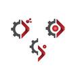 tech gear logo concept vector image