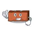 thumbs up brick character cartoon style vector image