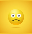 unhappy sad emoticon with opened eyes and mouth vector image vector image