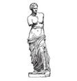 Venus de milo is a famous ancient greek statue vector image