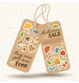vintage price tags autumn concept vector image vector image