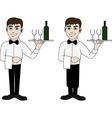 waiter vector image vector image