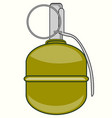 weapon hand grenade vector image