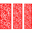 wedding red screen vector image vector image
