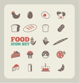 Food Infographic Template vector image