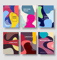 modern color abstract background brochure vector image