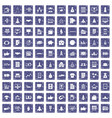 100 startup icons set grunge sapphire vector image vector image