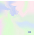 abstract holographic background in pastel colors vector image