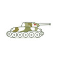 armoured tank icon 23 of february holiday vector image