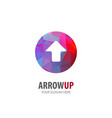 arrow up logo for business company simple arrow vector image vector image