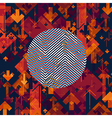 Arrows Chaotic Abstract Background with Circle vector image vector image